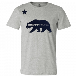 Brett Young Athletic Heather Bear Tee
