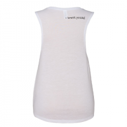 Brett Young Ladies White Muscle Tank