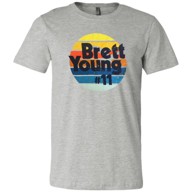 Brett Young Athletic Heather Retro Sun Tee