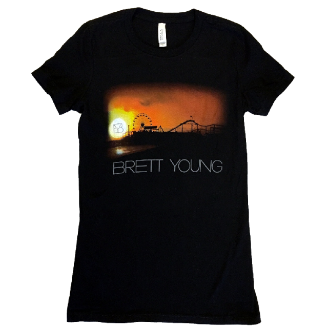 Brett Young Ladies Heather Black Tee
