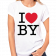 Brett Young Ladies White I Love BY Tee