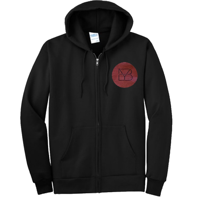 Brett Young Jet Black Zip Up Hoodie