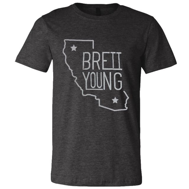 Brett Young Dark Heather Grey Tee