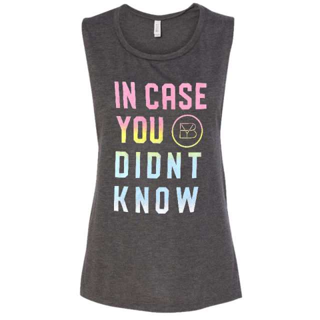 Brett Young Ladies Heather Grey Muscle Tank- In Case You Didn't Know
