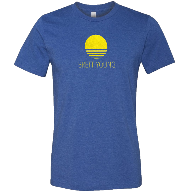 Brett Young Heather True Royal Tee